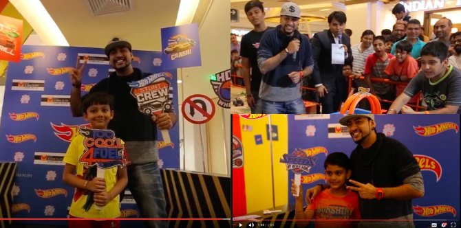 Kids ring in Children's Day with their favourite Rob as they build with Hot Wheels