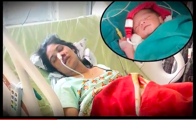 Miraculous! Nine-months pregnant woman braves three bullets and give birth to a baby boy!