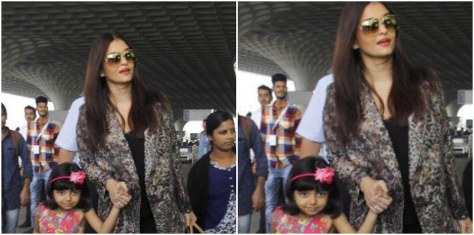 Aishwarya Rai Bachchan's little girl Aaradhya is a poser now! These pics are proof!