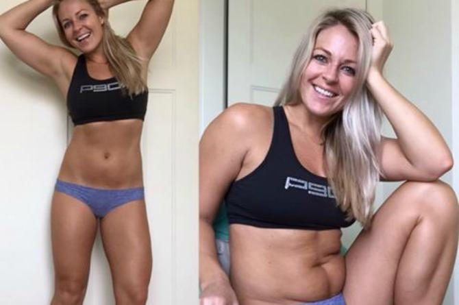 "Belly rolls are normal! Fitness blogger Ashlie Molstad keeps it real and shares photos of her ""not-so-flattering side"""