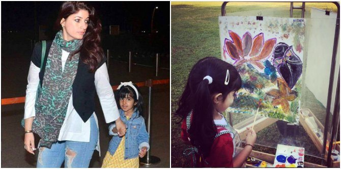 Twinkle Khanna's daughter Nitara is a little Picasso. Here's proof!