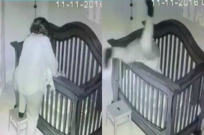 WATCH: Viral video of woman falling into her grandchild's crib will make you LOL