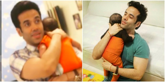 This video of single dad Tusshar Kapoor singing a lullaby to Laksshya will put a smile on your face!