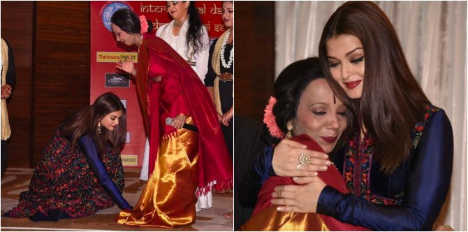 Aishwarya Rai gets emotional as she meets her childhood dance guru Lata Surendra!
