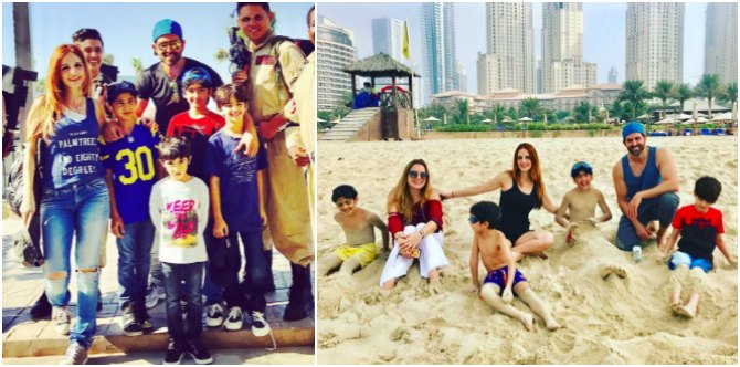 Hrithik-Sussanne put their differences aside to ring in the New Year with kids in Dubai!