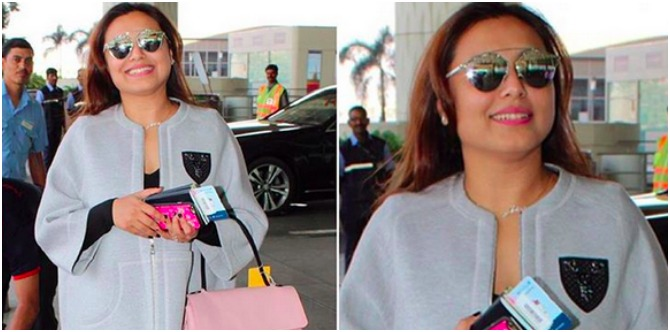 Rani Mukerji travels sans Adira but with a special jewellery that reminds her of her daughter!