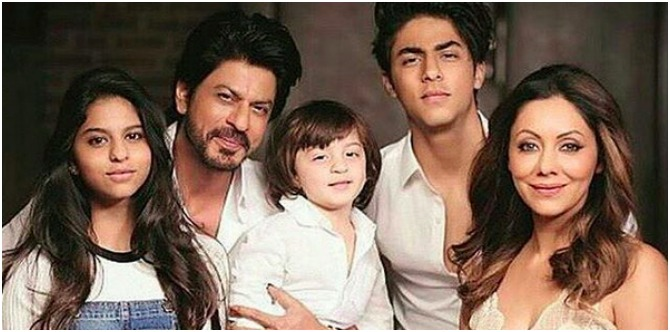 Finally! Shah Rukh Khan and Gauri pose with their kids in their first ever family picture