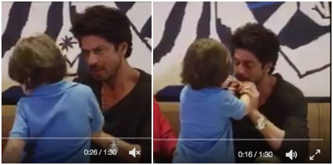 Must-watch: When daddy SRK healed son AbRam's broken thumb!