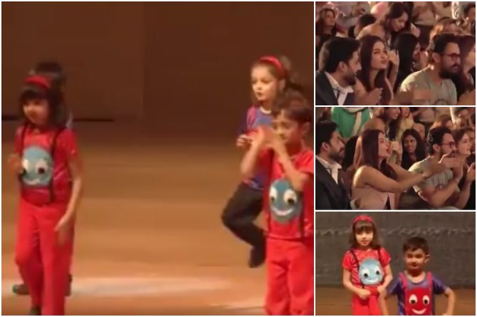 Watch! This video of Aaradhya Bachchan and Azad Rao Khan dancing at their annual day is too CUTE to miss!