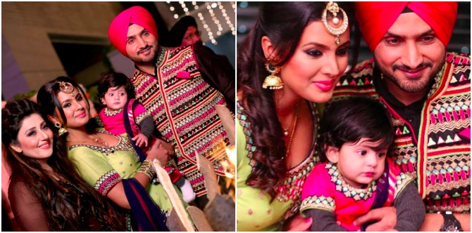 Here's how Geeta and Harbhajan Singh's daughter celebrated her first Lohri!