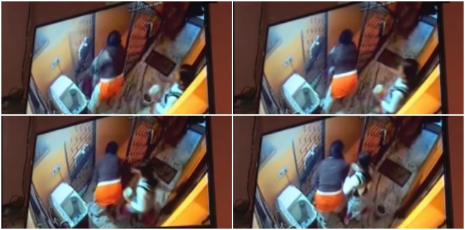 This video of a Delhi woman throwing her OWN two-year-old son from the first floor will send chills down your spine!