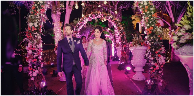 In pics: Neil Nitin Mukesh and Rukmini Sahay's grand royal engagement