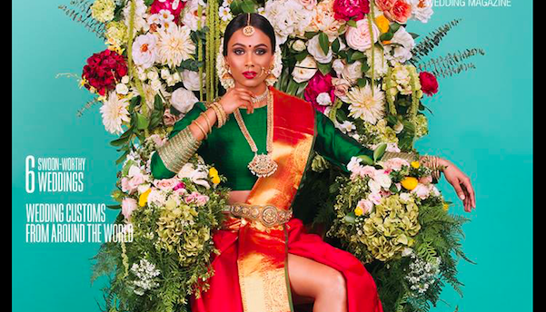 """This Tamil bride's """"revealing"""" bridal saree is breaking the internet!"""