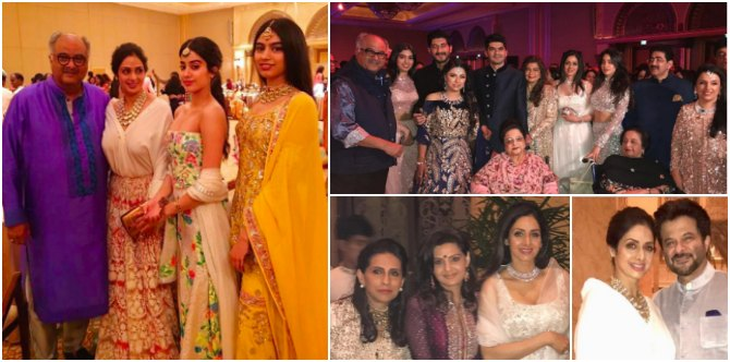These pics are proof that Sridevi has finally been accepted by husband Boney Kapoor's family!