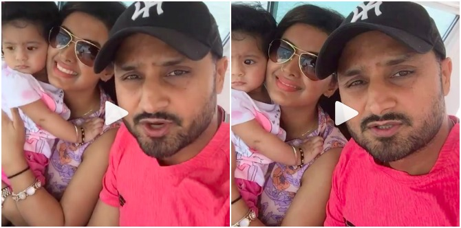 Must watch: Mum Geeta Basra holds on to Hinaya as they sail on a fast yacht!