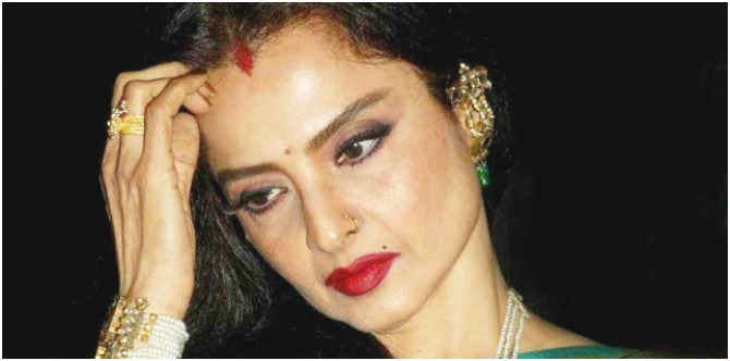 Here's the REAL reason Rekha wears sindoor on her forehead!