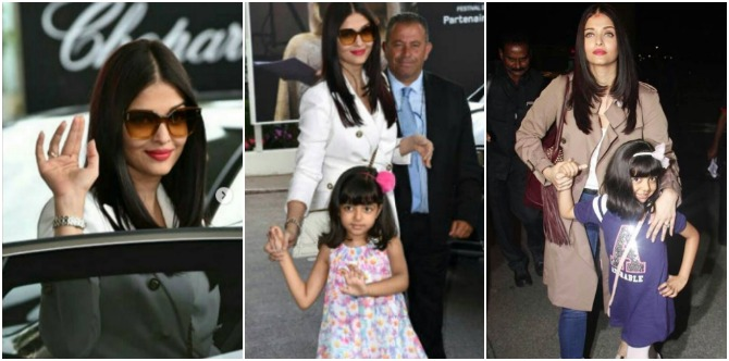 In pics: Aaradhya steals the show as she goes to Cannes with mum Aishwarya