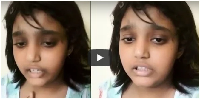 OMG! Shocking video shows 13-year-old girl begging father to lend her money for cancer treatment