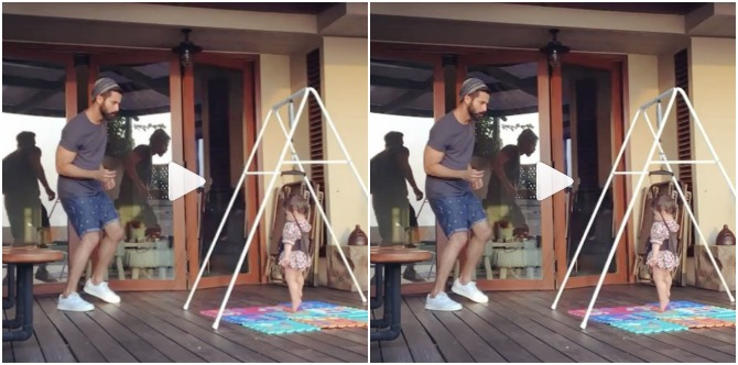Must watch: Shahid Kapoor is teaching Misha some killer dance moves!