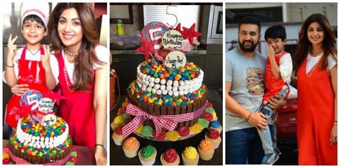 Wow! Shilpa Shetty Kundra's son Viaan baked his fifth birthday cake with a little help from mummy!