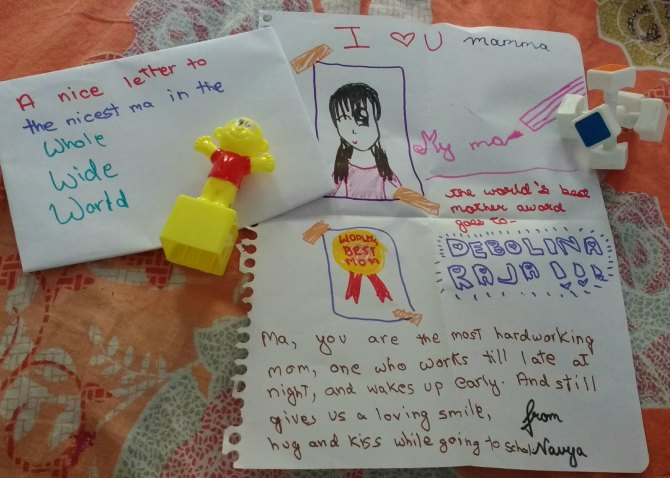 ''Mamma, I am proud you work so hard'': My 9-year-old's loving message to me