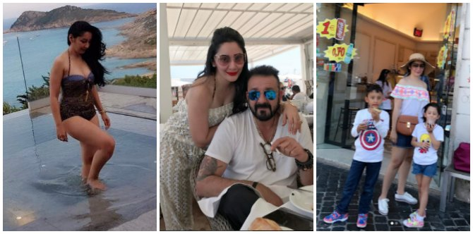 Mum Maanayata is having a blast with hubby Sanjay Dutt and kids on her exotic European vacation!