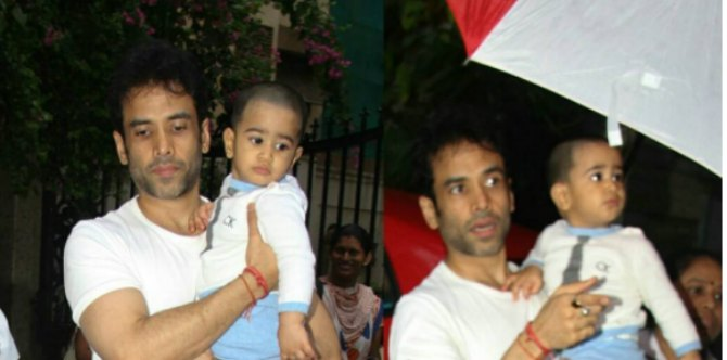 This pic of Tusshar Kapoor dropping son Laksshya to school is PROOF that he's a hands-on dad