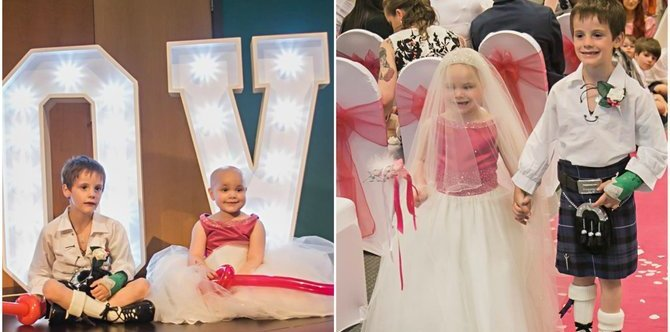Terminally ill little girl gets her dream wedding with her best friend