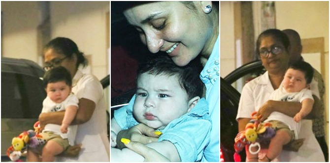 Cute Taimur always travels with his favourite toy and it's one that every kid loves!