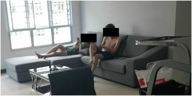 Singapore wife catches husband with friend in new flat and does THIS!