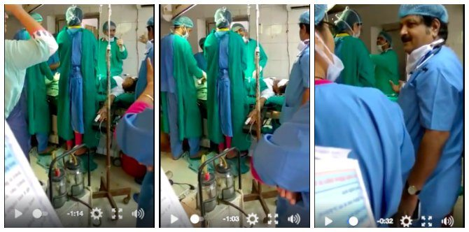 Video: Reckless Jodhpur Doctors let newborn baby die as they're busy fighting inside the OT!