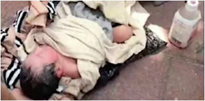 Mother 'couriers' newborn daughter to orphanage wrapped in a plastic bag!