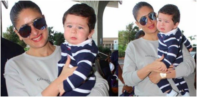 Aww! Kareena Kapoor Khan consoles a crying Taimur as the two leave Mumbai