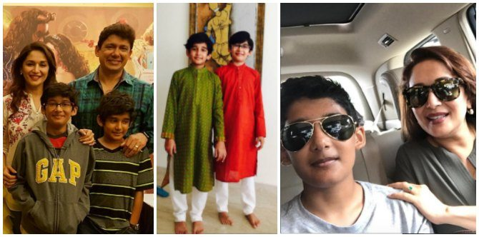 Madhuri Dixit's sons are BIG boys now!!!