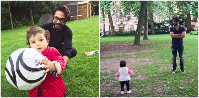 New dad Shahid Kapoor is having a blast with his two leading ladies. Here's proof!