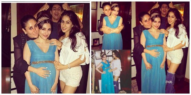 Sara and Ibrahim look all excited to welcome their bua Soha Ali Khan's baby