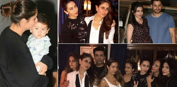 Inside pics: Taimur steals the limelight at mum Kareena's star studded birthday bash!
