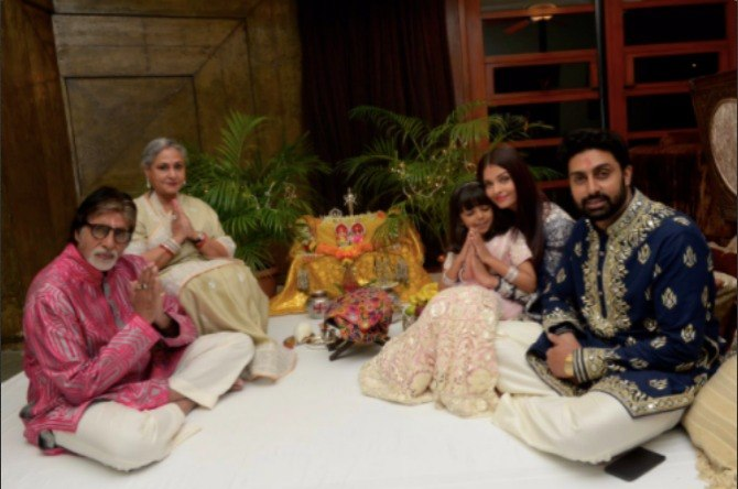 Pics: Inside the Bachchan's quiet Diwali