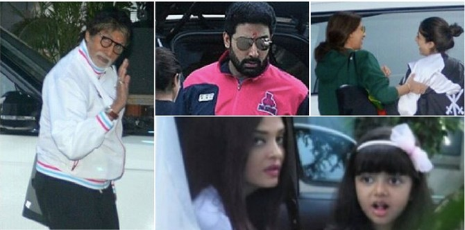 In pics: Goodbye India! Say the Bachchans, as they jet off to Maldives