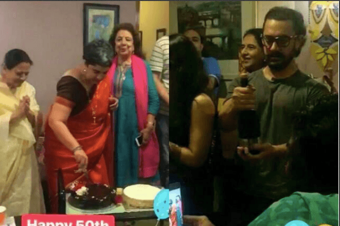 Aamir Khan attends ex-wife Reena Dutta's 50th birthday