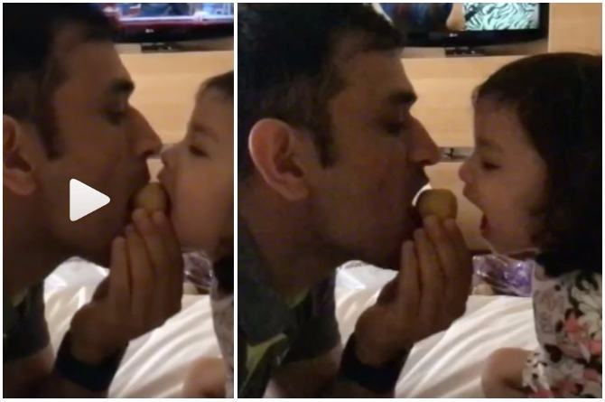 Video: MS Dhoni sharing besan ka laddoo with daughter Ziva is the sweetest thing you'll see today!