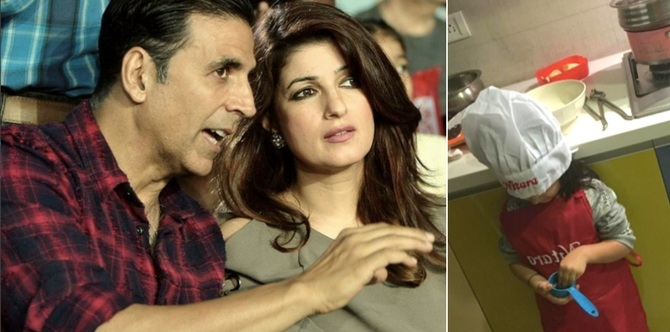 Twinkle Khanna knows how to help her kids develop a new talent everyday!