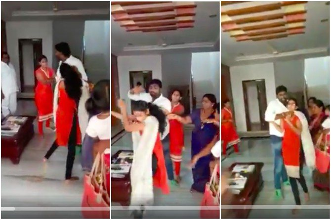 Disgusting! Telangana man beats up first wife in front of second spouse for having a baby girl