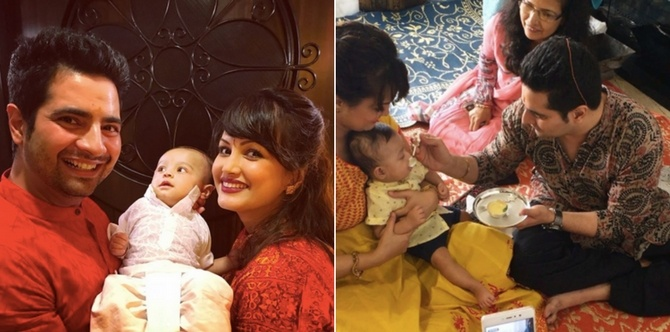 Here's what Nisha Rawal and Karan Mehra did on their baby's annaprashan ceremony