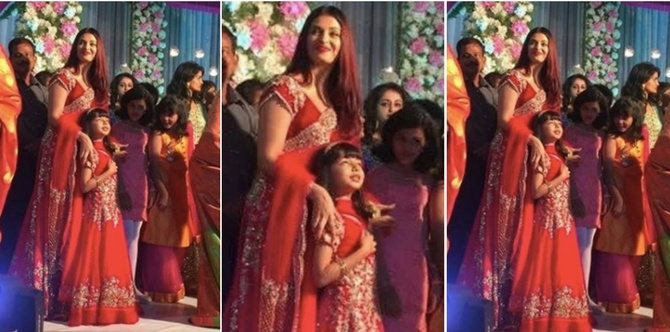 In pics: With matching outfits, Aishwarya and Aaradhya steal the show at a family wedding!