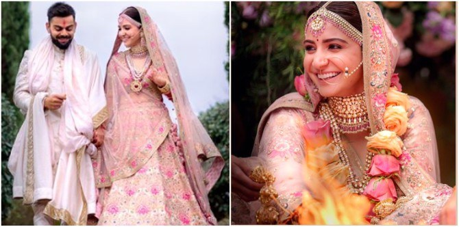 Anushka Sharma at her wedding