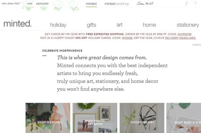 minted Forgot to send X'mas cards out? No prob! Here are 5 best websites to get holiday cards online!