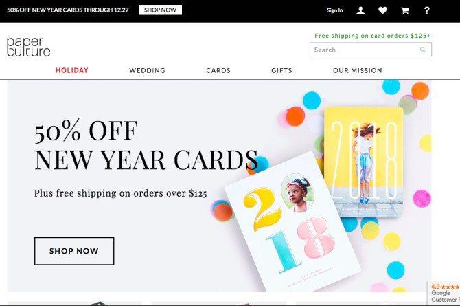 paperculture Forgot to send X'mas cards out? No prob! Here are 5 best websites to get holiday cards online!