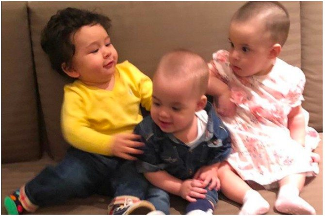 Taimur with Karan Johar's twins Yash and Roohi
