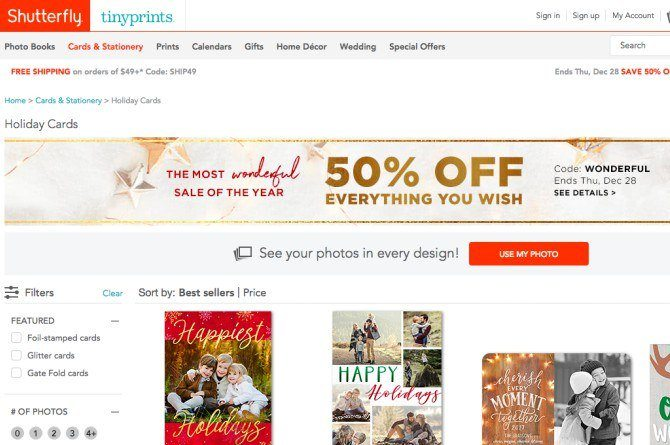 tinyprints Forgot to send X'mas cards out? No prob! Here are 5 best websites to get holiday cards online!